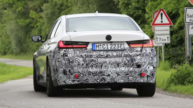 Electric BMW 3 Series in development - rear view