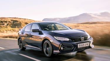 2020 Honda Civic Sport Line - front 3/4 tracking