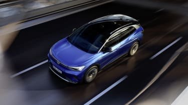2021 Volkswagen ID.4 driving - view from above