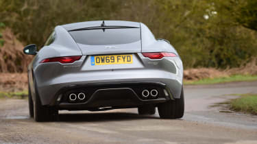 Jaguar F-Type coupe rear cornering