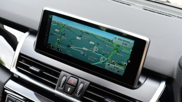BMW 2 Series Gran Tourer sat nav screen
