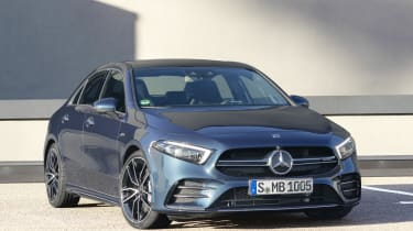 Mercedes-AMG A 35 Saloon front quarter static