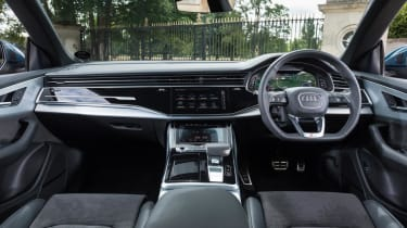Audi Q8 S line - front cabin and dashboard