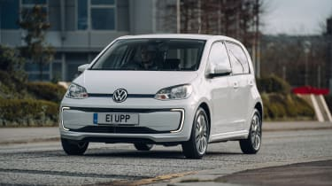Volkswagen e-up driving - front
