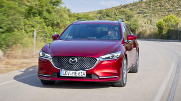 Mazda6 Tourer driving - front end
