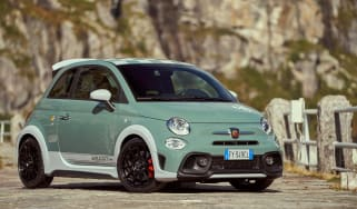 Abarth 695 70th Anniversario - front 3/4 static wide view