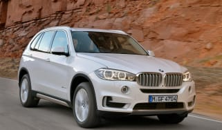 BMW X5 SUV 2013 front quarter tracking