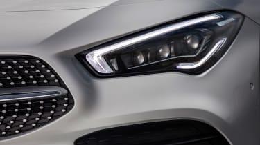 Mercedes CLA saloon headlights