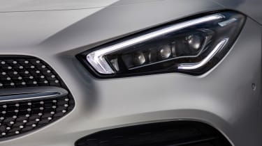 Mercedes CLA saloon headlights