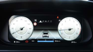 Hyundai i20 N hatchback white dials