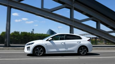 Hyundai Ioniq Plug-in Hybrid driving - side view