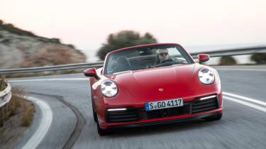 Porsche 911 Cabriolet 2019 tracking corner 2