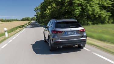 Mercedes GLA 250 e SUV rear 3/4 tracking