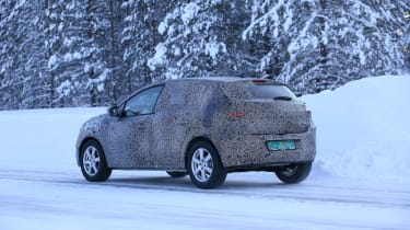 2021 Dacia Sandero winter testing - rear dynamic