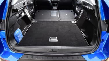 The Grandland X's boot is impressively flat when the rear seats are folded