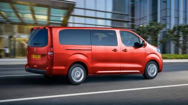 Vauxhall Vivaro-e Life driving - rear view