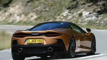 McLaren GT driving - rear view