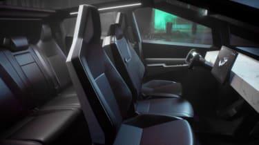 Tesla Cybertruck - interior view