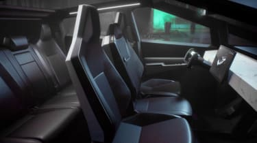Tesla Cybertruck - interior view