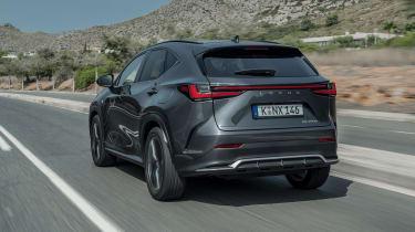 Lexus NX SUV rear 3/4 tracking