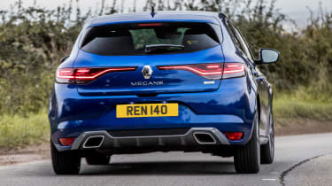 Renault Megane hatchback rear cornering