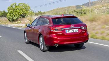 Mazda6 Tourer driving - rear view