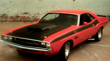 Unlike the car pictured, the Dodge Challenger featured in Vanishing Point was a white R/T model.