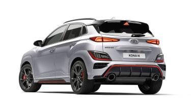 2021 Hyundai Kona N - rear 3/4 view static