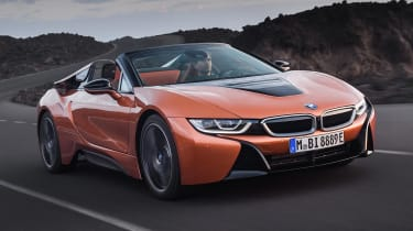 The BMW i8 Roadster (and updated coupe) get a upgraded batteries and a greater EV range