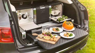 The Bentayga is available with a Linley-designed picnic set - costing an extra £22,000!