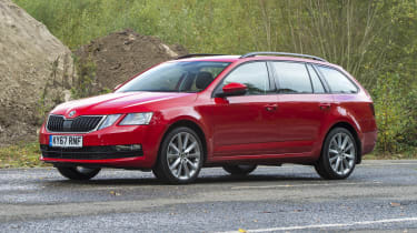 2017 Skoda Octavia Estate - front 3/4 static