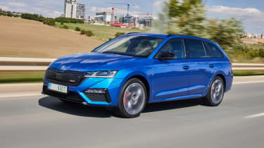 2020 Skoda Octavia vRS iV Estate driving on road