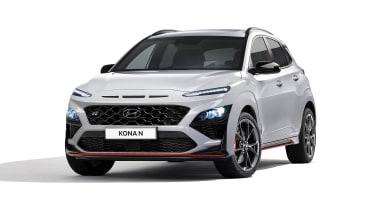 2021 Hyundai Kona N - front 3/4 view static