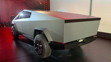 Tesla Cybertruck - rear 3/4 view