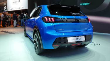 Peugeot e-208 revealed at Geneva - rear