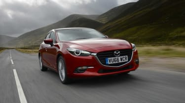The front grille design of the Mazda3 can also be seen on the Mazda6