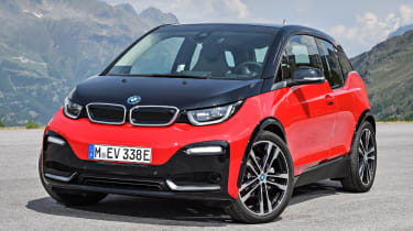 The BMW i3 is available as an all-electric or plug-in hybrid range extender model
