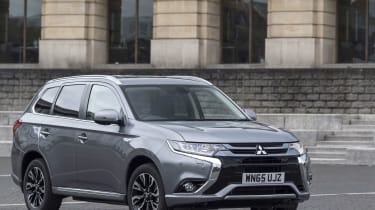 The Mitsubishi Outlander PHEV is a plug-in hybrid, offering an all-electric range of 32 miles