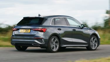Audi A3 Sportback hatchback rear 3/4 panning