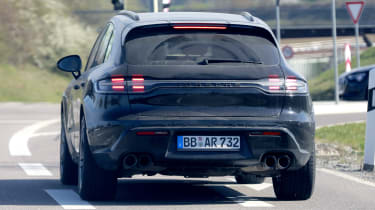 2021 Porsche Macan SUV rear dynamic