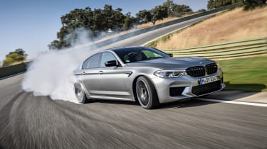 BMW M5 Competition - cornering view dynamic
