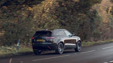 Range Rover Velar R-Dynamic Black driving - rear view