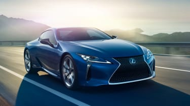The Lexus LC is a coupe rival for cars like the Mercedes SL