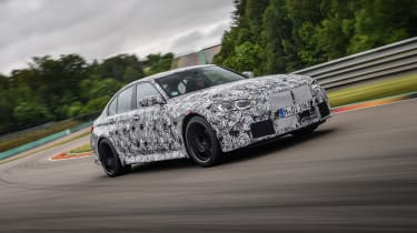 2020 BMW M3 saloon prototype - front 3/4 view