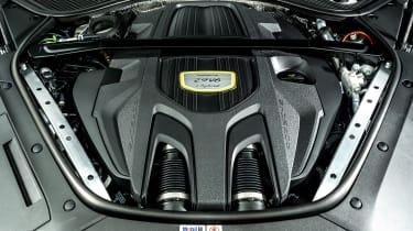 Porsche Panamera hatchback engine bay