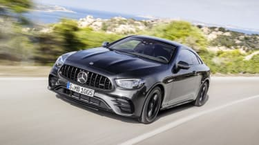 Mercedes-AMG E 53 Coupe driving - front end