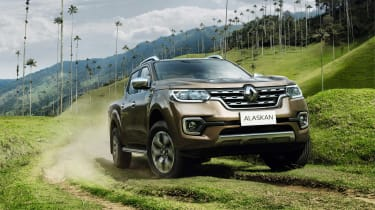 The Renault Alaskan pickup is the manufacturer's first, and it's based on the Nissan Navara