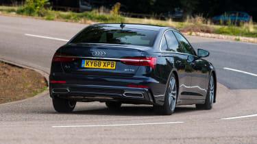 Audi A6 saloon rear cornering