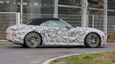 2021 Mercedes SL protoype driving - side view