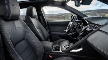 Jaguar E-Pace SUV review front seats